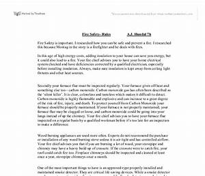 Fire prevention essay paper