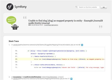 twig extends unable to find template php unable to find slug slug as mapped property in