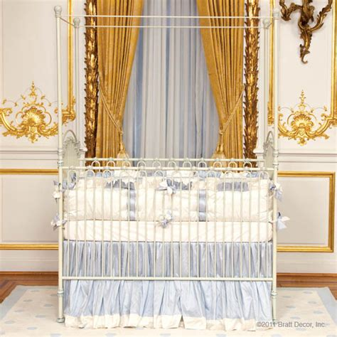 venetian iron crib in antique white by bratt decor