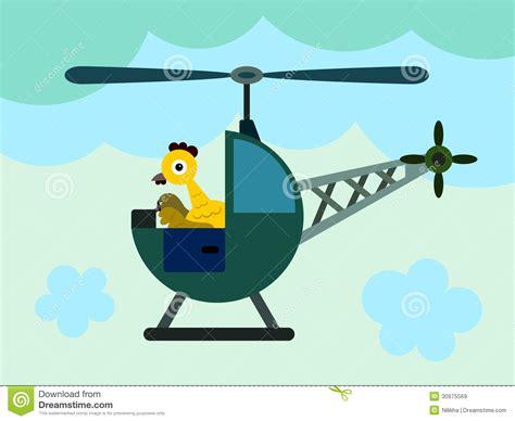 chicken helicopter stock illustration illustration