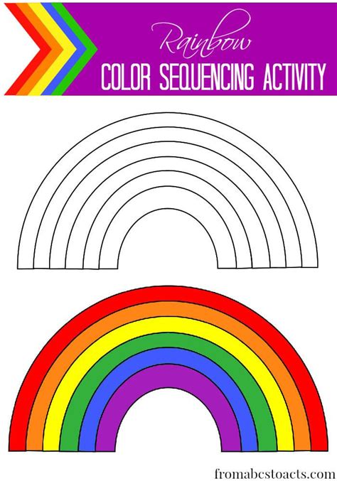 42 best pre k rainbow theme crafts worksheets images on