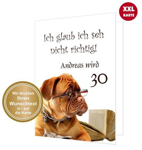 glueckwunschkarte hund mit brille unser festtag