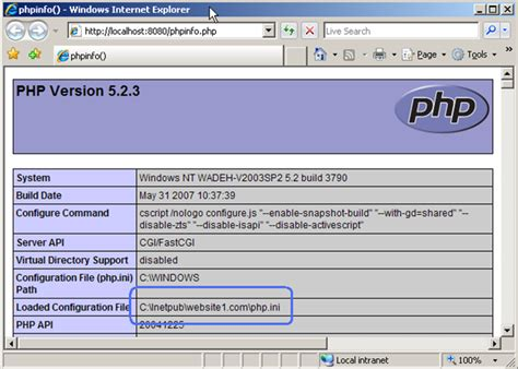 Enable Per-site Php Configuration On Iis 7 And Iis 6.0