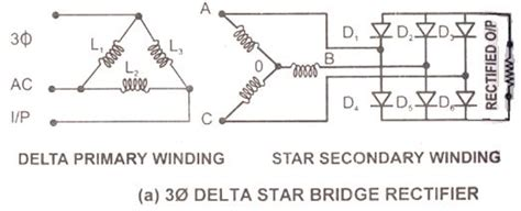 Three Phase Full Wave Rectifier Using Six Diodes