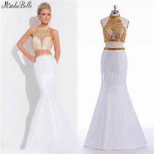 popular white gold prom dresses buy cheap white gold prom With bal de promo américain robe