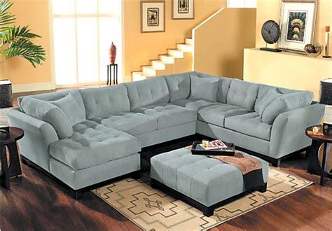 cindy crawford sectional sofa the 148 inch wide cindy crawford metropolis cardinal 3pc