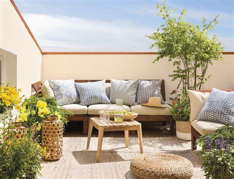 sofa l terraza terrazas muebles mesas e ideas para tu terraza el mueble