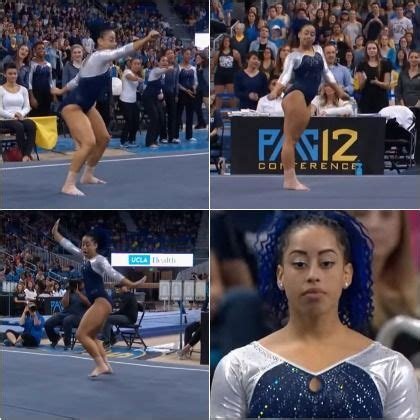 hit the floor quan gymnast sophina dejesus slays with fierce floor exercise floors shake and floor exercises