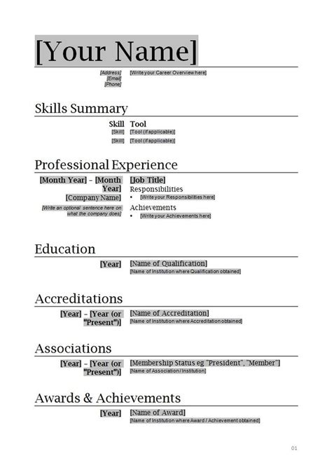 Resume Template For Word 2010 by Microsoft Office Resume Builder Free Letters Free