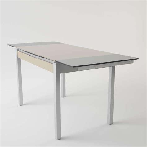 table de cuisine en verre table de cuisine en verre extensible avec tiroir camel