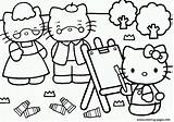 Kitty Hello Coloring Painting Pages Parents Colouring Printable Sheets Print Emo Visit Books sketch template