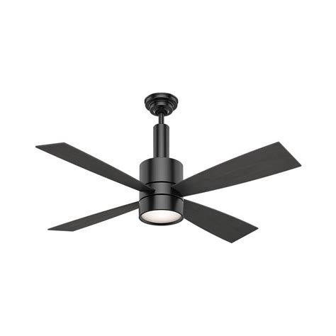 matte black ceiling fan casablanca bullet 54 in indoor matte black ceiling fan