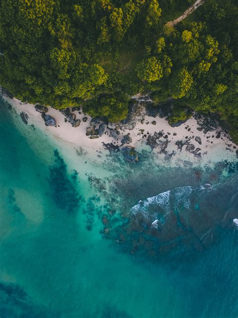 Free Images : above, aerial view, asia, bali, beach ...