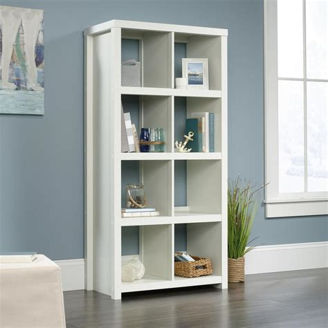 Cube Bookcase White by Homevisions Soft White 8 Cube Bookcase 425049 The Home Depot