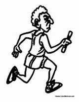 Running Track Coloring Pages Field Athletics Sprint Colormegood Sports sketch template