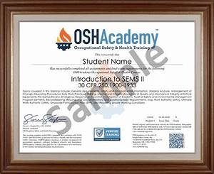 Offshore Oil Gas Sems Ii Oshacademy Free Safety Training