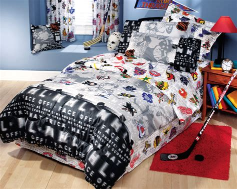 Nhl Bedding Sets nhl hockey montage 3pc bed sheets set bedding