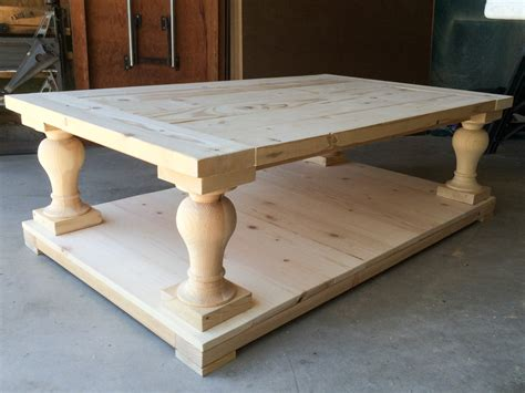 baluster coffee table square i built my coffee table and i still all my