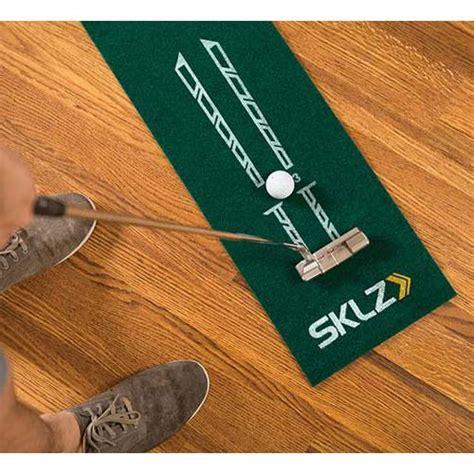 sklz putting mat sklz accelerator pro compact true roll putting mat ゴルフ用品