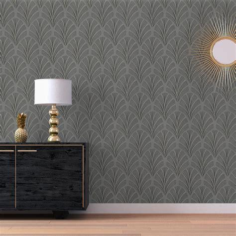 excellent papier peint faustine intiss motif art dco gris