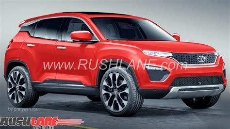 New Tata Harrier H5x Seen In Nexon Red Colour For The