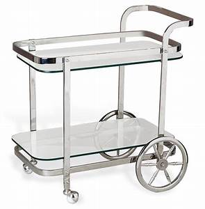 Viggo Hollywood Regency Rolling Silver Bar Cart Kathy