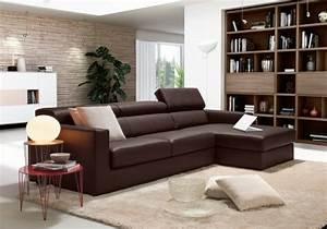 70 idees de canape design pour personnaliser espace salon for Tapis de marche avec canapé d angle beige marron