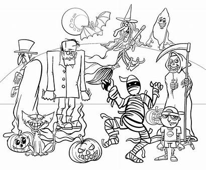 Coloring Pages Halloween Printable Spooky Activities Tip