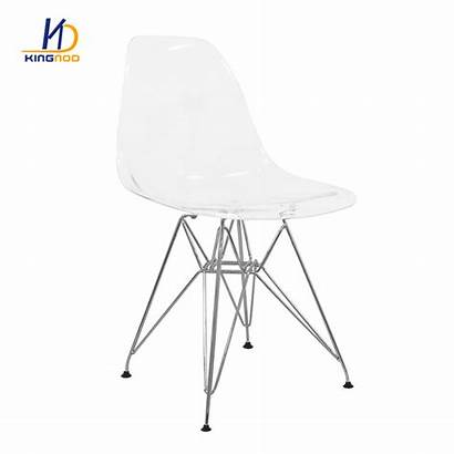 Chair Plastic Dining Armless Comfortable Transparent Luxury