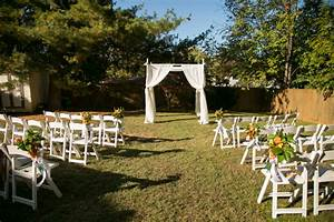 simple outdoor wedding ceremony setup decor from from With simple backyard wedding ideas