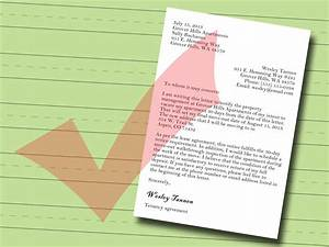 Parts Of Letter Of Intent How To Write A Letter Of Notice To Your Landlord 14 Steps