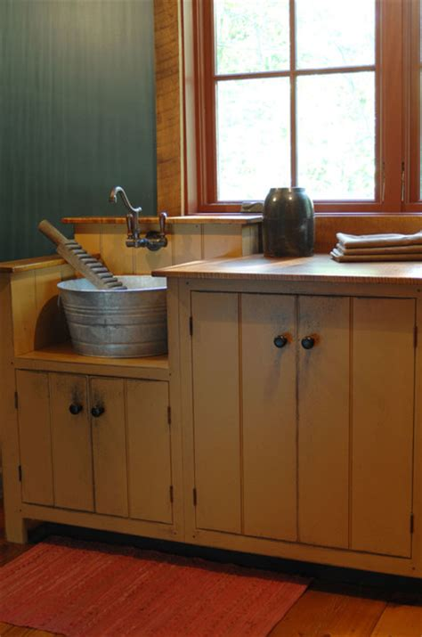 Primitive Kitchen Sink Ideas central kentucky log cabin primitive kitchen eclectic