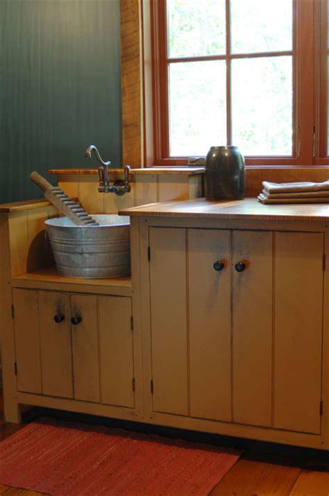 Primitive Kitchen Sink Ideas by Central Kentucky Log Cabin Primitive Kitchen Eclectic