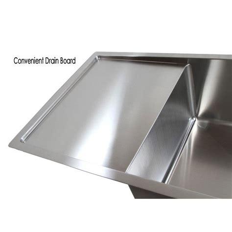 stainless steel kitchen sink with drainboard 36 inch stainless steel undermount single bowl kitchen 9405