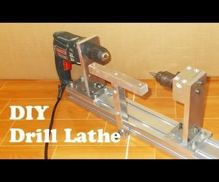 homemade wood mini lathe  hand drill woodworking
