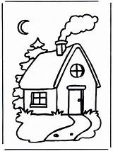 Coloring Cabin Pages Log Popular Colouring sketch template