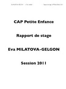 rapport de stage cuisine collective stage cap enfance 19 avril