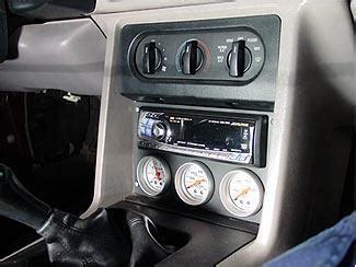 mustang radio gauge panel