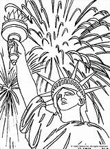 Coloring Liberty Statue Sheets 4th Printable Patriotic Independence Preschool Dmc Crafts Decorations sketch template