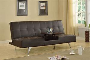 adjustable futon sofa bed derby brown leatherette hidden With hidden sofa bed