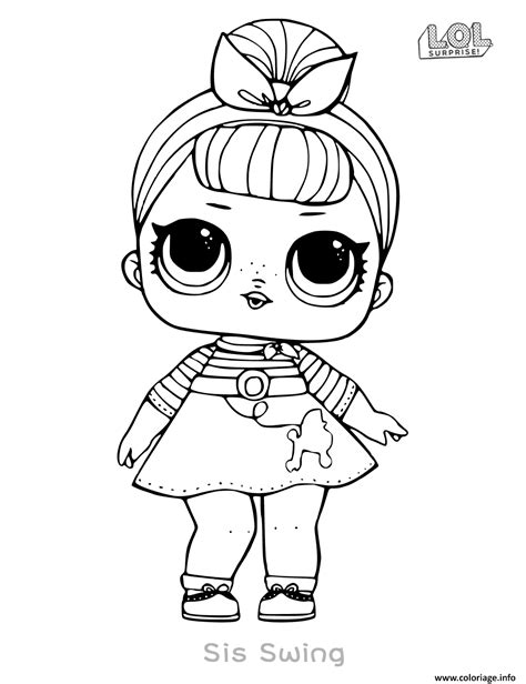 coloriage poupee lol surprise doll sis swing dessin