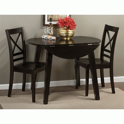 small table ls simplicity espresso 3 dining set drop leaf table