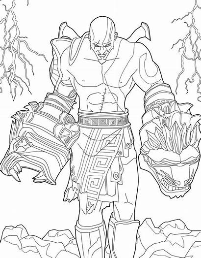 Coloring Pages Kratos Playstation Colouring God War