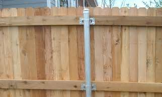 Galvanized Metal Fence Post for Wood