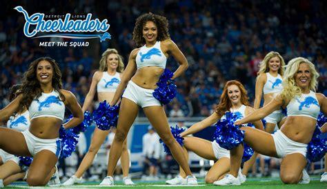 detroit lions cheerleaders detroit lions detroitlionscom