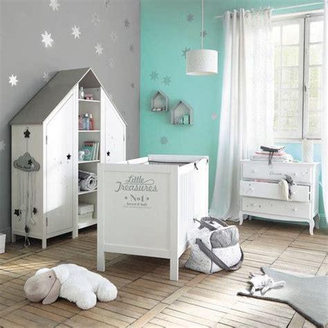 guirlande chambre bebe guirlande nuage enfant en coton grise l 130 cm guirlande