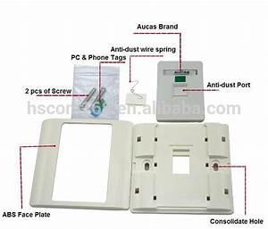 Aucas Modular Jack Face Plate Rj45 Keystone Jack Faceplate