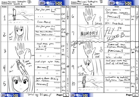 Anime Storyboard Template Costumepartyrun