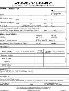 Blank Job Application | whitneyport-daily.com
