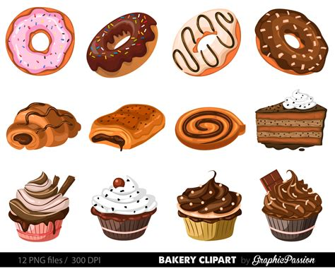 Pastry Clipart Dessert Clipart Bakery Cake Pencil And In Color Dessert